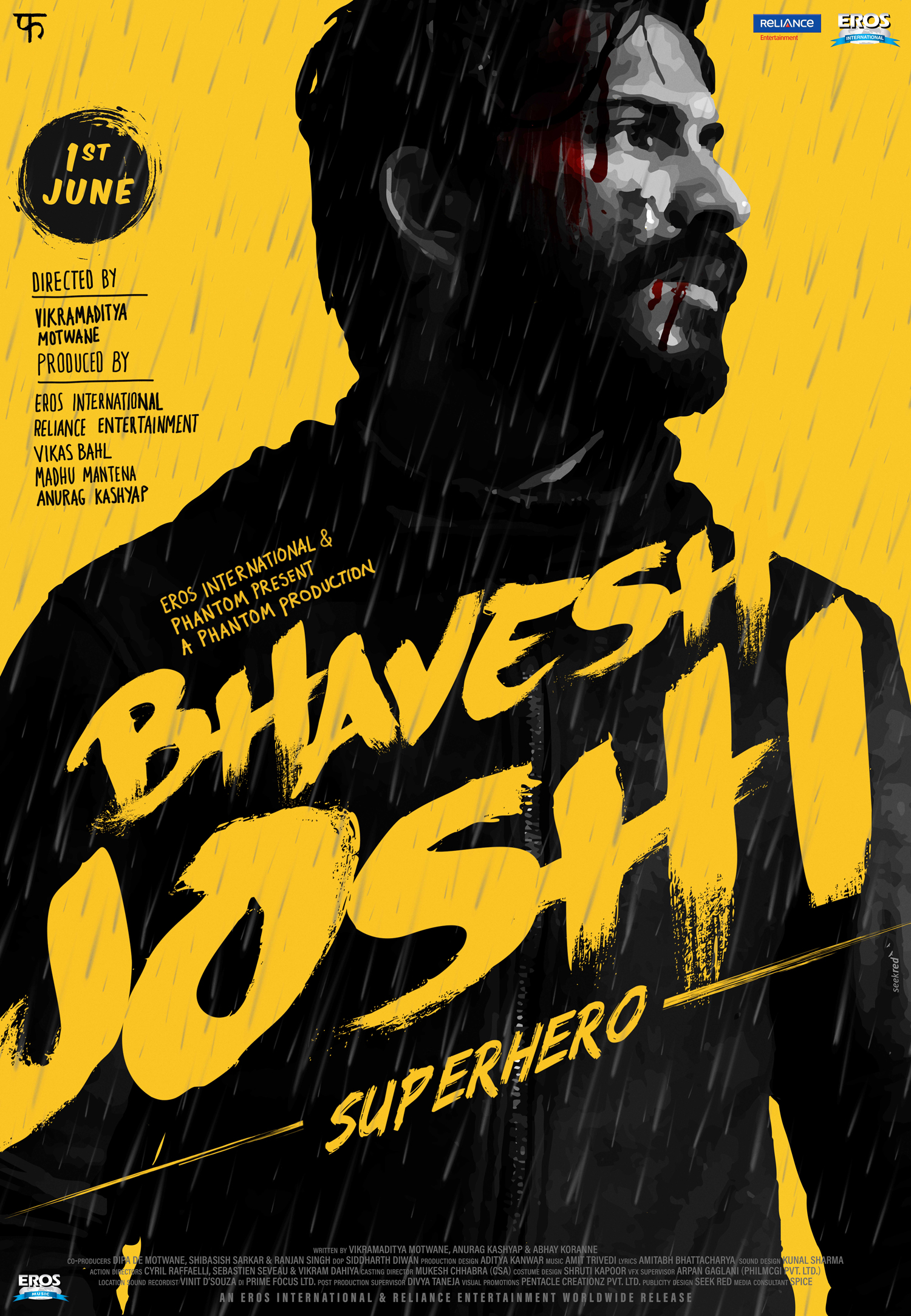 Bhavesh Joshi Superhero - Reveal Yellow poster #SeekRed