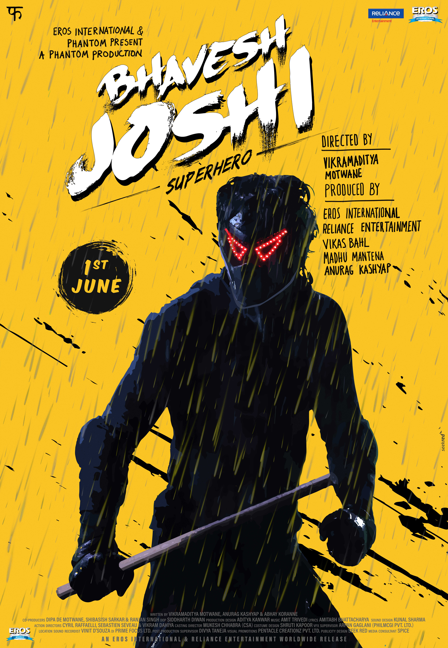 Bhavesh Joshi Superhero - Yellow poster #SeekRed