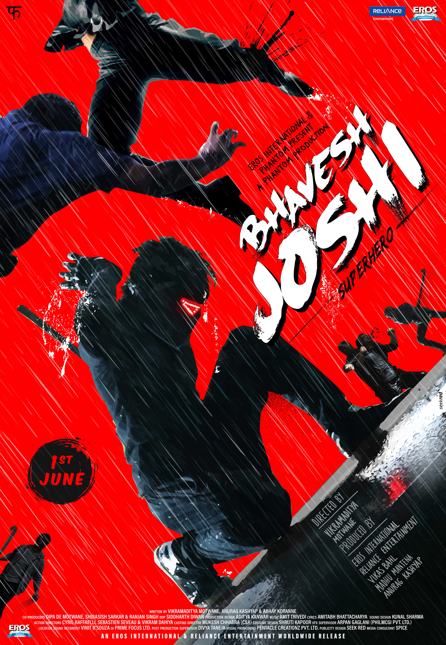 Bhavesh Joshi Superhero - Red poster #SeekRed