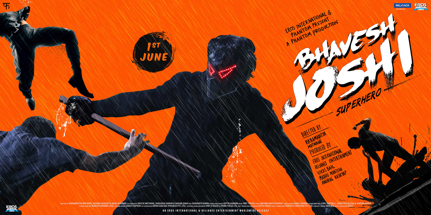 Bhavesh Joshi Superhero - Orange poster #SeekRed